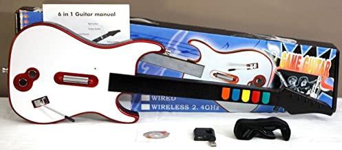 Wireless Guitar Hero/Rock Band 3 2 1 Game Controller PS3/Wii/PC Beatles