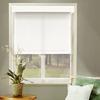Chicology Free-Stop Cordless Roller Shades, No Tug Privacy Window Blind, Mountain Snow (Thermal) - 23