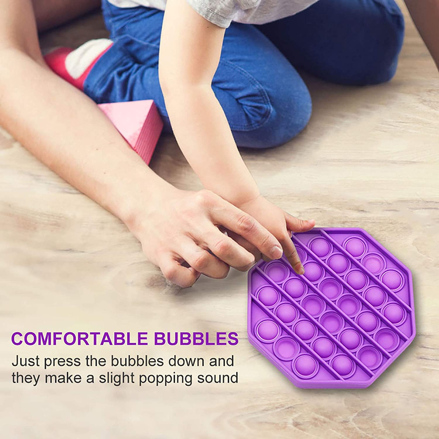 Fidget Toy zeBrush Updated Push Pop Bubble Fidget Sensory Toy Press and Beat Bubbles Autism for Special Needs to Relieve Pressure Stress and Anxiety