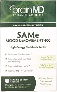 Dr. Amen brainMD Same Mood & Movement - 400 mg, 30 Tablets - Promotes Emotional Balance & Liver Health, Joint Support Supp...