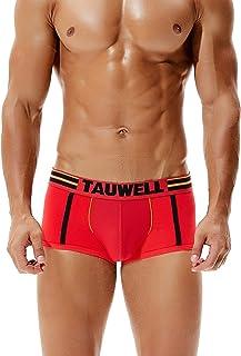 SEOBEAN Mens Low Rise Sexy Trunk Boxer Brief Underwear