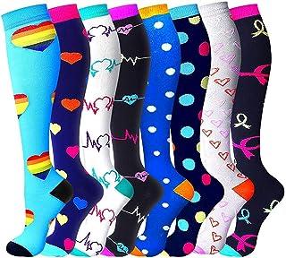 Womens Compression Socks Nursing 15-20mmhg-Best for Flying Traveling Running Pregnancy Women Nurses Doctor Teacher