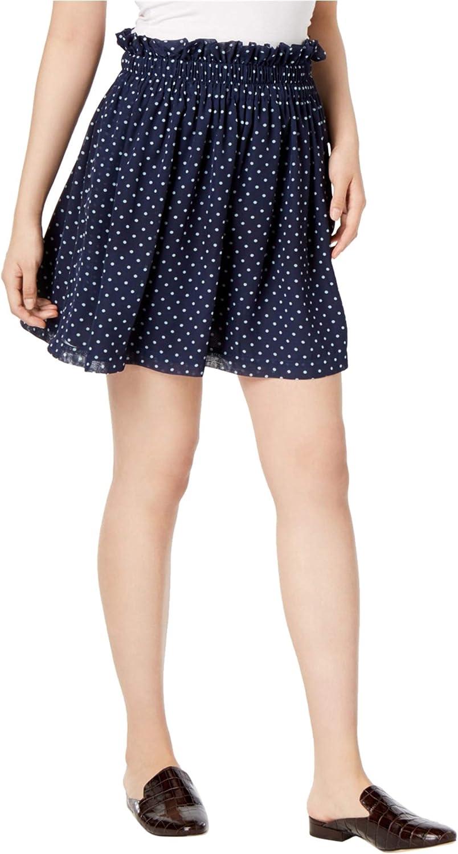 Maison Jules Womens Polka Dot Pull-On Mini Skirt