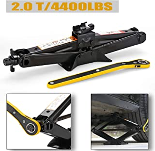 CPROSP Scissor Jack Car for/SUV/MPV max 2 Tons(4,409 lbs) Capacity with Hand Crank Trolley Lifter with Ratchet