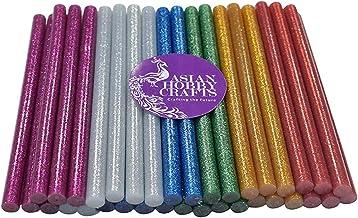 Asian Hobby Crafts Hot Melt Multi Purpose Glitter Glue Stick : Multicolor :12Pcs : 20cmx1.1cm : Suitable For 40W, 65W,80W Glue Guns