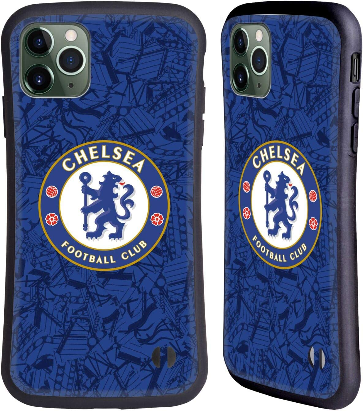 Head Case Designs Officially Licensed Chelsea Football Club Home 2019/20 Kit Hybrid Case Compatible with Apple iPhone 11 Pro Max