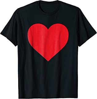 Short Sleeve Red Heart Valentine's Day Shirt Women Girls Top