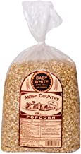Amish Country Popcorn | 6 lb Bag | Baby White Popcorn Kernels | Small and Tender | Old Fashioned with Recipe Guide (Baby W...