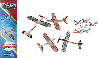 Balsa Wood and Styrofoam Airplane Toys Set - 2 Wooden Airplane Kits Which Include - 2 Rubberband Powered Propellor Planes, 2 Balsa Wood Glider Planes, and 6 Foam Model Toy Airplane Kits