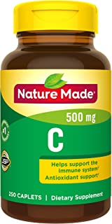Nature Made Vitamin C 500 mg Caplets, 250 Count to Help Support the Immune System† (Pack of 3)