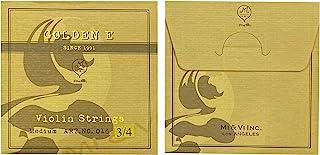 MI&VI Golden E/Gold E Violin String - Single E, Medium, Ball End, Super Flexible and Sensitive (3/4)