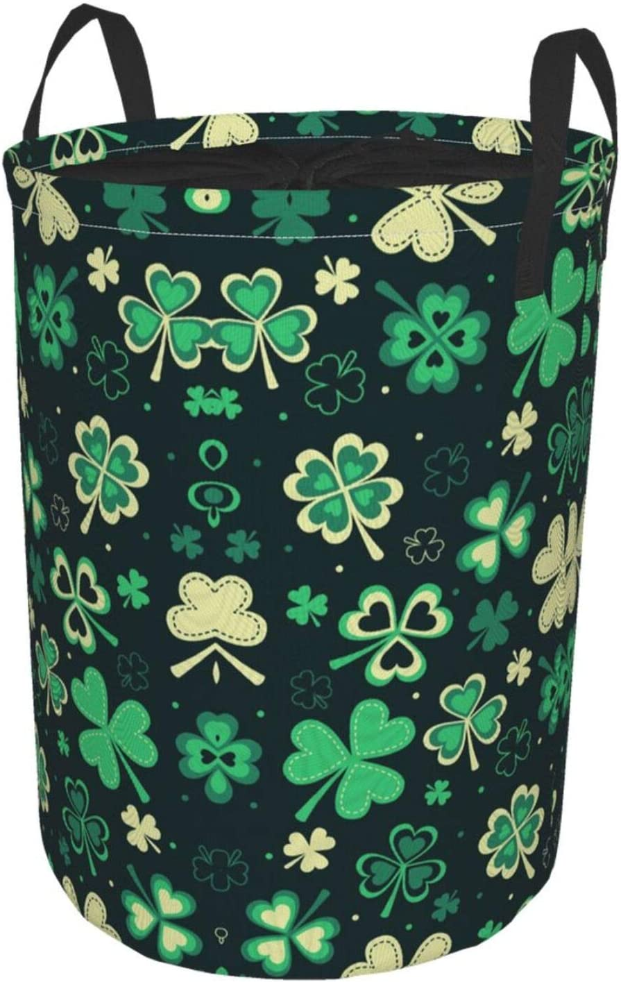 Max 85% OFF HTRHA Four Leaf Clover Circular Waterproof Hamper Home Laundry Ranking TOP14