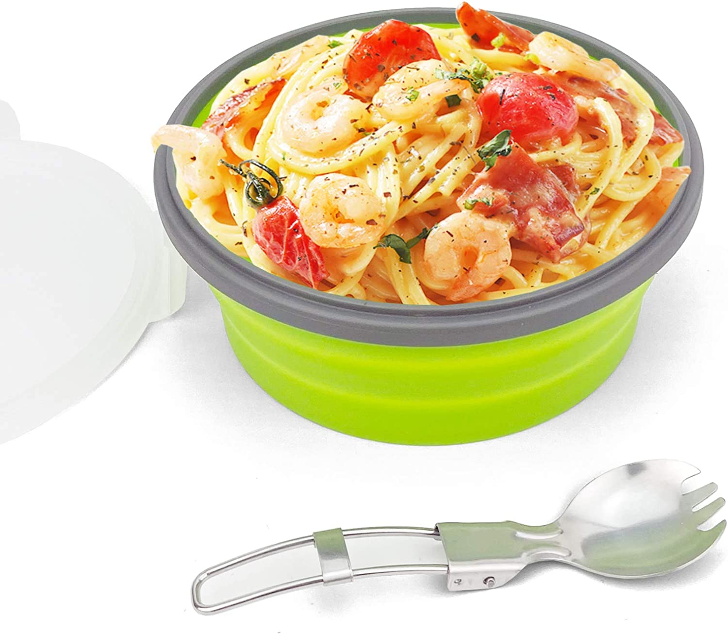 CCyanzi Ranking TOP3 1200ml Collapsible Camping Bowl Silicone Food Storage Co store