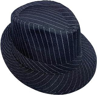 Jixin4you Men's Women's Manhattan Gangster Trilby Cotton Fedora Hat Costume Jazz Panama Cap
