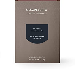 Compelling Coffee Roasters, Blueprint, Full-bodied notes of Dark Chocolate & Toffee, Perfect for Drip, French Press, or Espresso, Roasted to order, Whole Bean (12 ounces), Medium Dark Roast