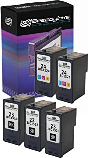 Speedy Inks - 5PK Remanufactured Lexmark 3X Black #23 2X Color #24 Ink Cartridges 18C1523, 18C1524 for use in Lexmark X4550, Lexmark X3550, Lexmark Z1420, Lexmark X3530, Lexmark X4530, Lexmark Z1410