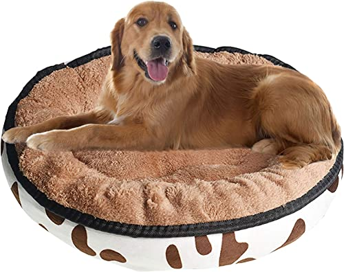 lowest netuera Round Ped sale Dog Bed Comfortable Ultra Soft Cat Cushion All outlet online sale Season Self Warming Indoor Taupe sale
