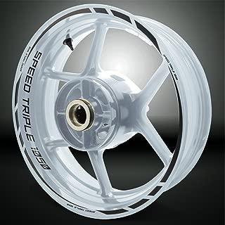 Reflective Black Motorcycle Rim Wheel Accessory Sticker For Triumph Speed Triple