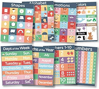 8 Laminated Kids Classroom Posters - 16x20