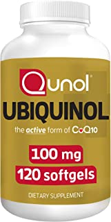 Qunol 100mg Ubiquinol, Powerful Antioxidant for Heart & Vascular Health, Essential for Energy Production, Natural Suppleme...