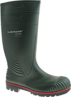 DUNLOP ACTIFORT MENS PVC GREEN STEEL TOE SAFETY WELLIES W138E SIZE UK 6 - 13 (UK11/EU46)