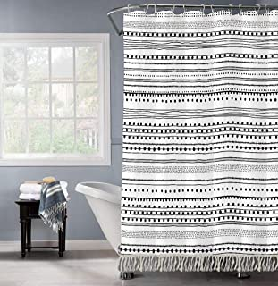 GALMAXS7 Boho Shower CurtainBlack White Modern Fabric Shower Curtains for Bathroom Chic Tribal Geometric Striped Decor Po...