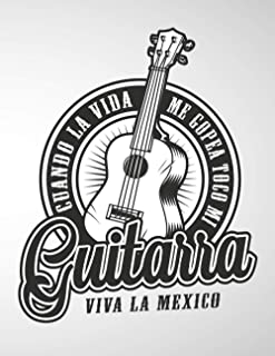 Guitarra viva la Mexico: 6 String Guitar Chord and Tablature Staff Music Paper for Guitar Players, beginner kids, Musician...