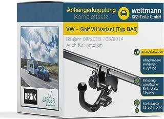 adatto per Nissan X-Trail T32 Gancio di traino rimovibile Weltmann 7D500323 set elettrico a 13 poli set completo AHK