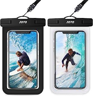 JOTO 2 uds. Bolsa Estanca Móvil Universal, IPX8 Funda Impermeable para iPhone 11 Pro Max/XS/XR/X/8/7+/6S/6S+, Galaxy S20+/S10e/S9/Note10+, Pixel 4, Huawei P30, Xiaomi Redmi Note hasta 6,5