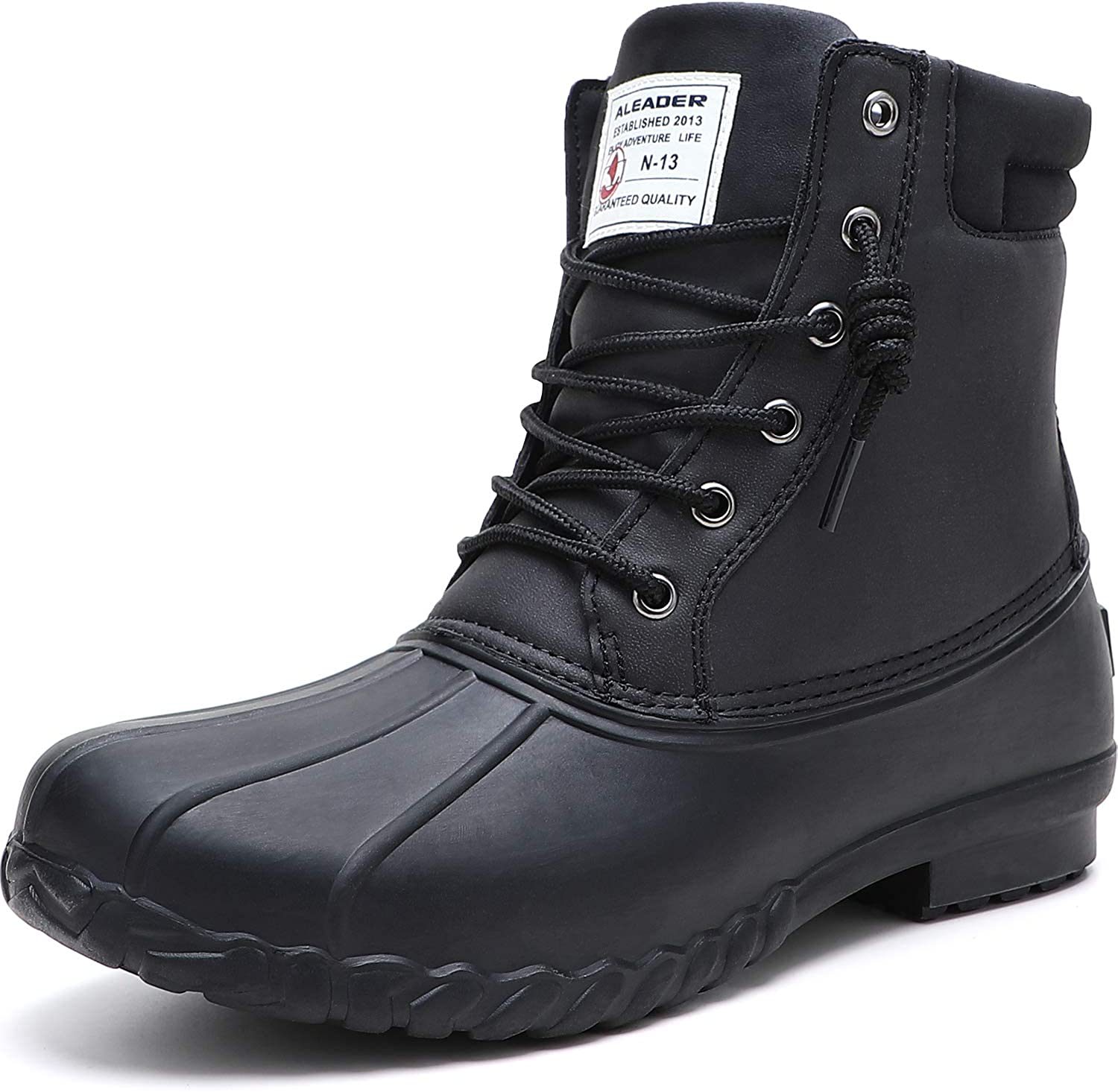 ALEADER Mens Duck Boot online shop Save money Waterproof Fur Shell Lined Insulated