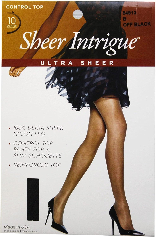 Sheer Intrigue Off Black Ultra Sheer Control Top Pantyhose Size B (uh) Wholesale, Cheap, Discount, Bulk (48 - Pack)