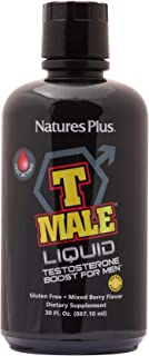 NaturesPlus T Male Liquid - 30 fl ozs - Mixed Berry Flavor - Fast-Acting Natural Testosterone Boost For Men - Promotes Mus...