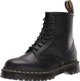 Men's 1460 8 Eye black matte leather boots