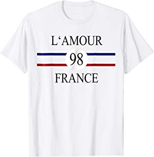 L'Amour France 98 french slogan graphic t-shirt