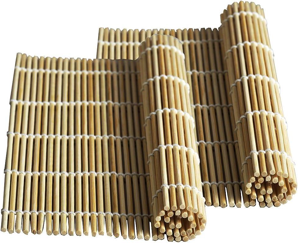 Happy Sales HSSM NAT01 Bamboo Sushi Natural 2 Pc Mats