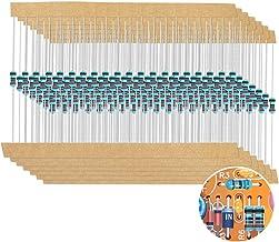 1280 Pieces 64 Values Resistor Kit, 1% Assorted Resistors 1 Ohm-10M Ohm 1/4W Metal Film Resistors Assortment with Storage ...