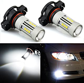 JDM ASTAR 2600 Lumens Extremely Bright 3030 Chipsets PSX24W 2504 LED Bulbs for DRL or Fog Lights, Xenon White (PSX24W 2504)