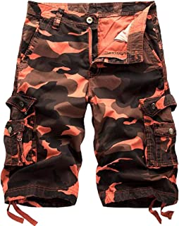 Esast Men's Beach Casual Cargo Shorts Camouflage Outdoors Pocket Work Trousers Short Pant