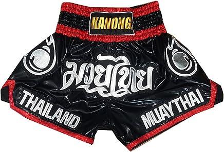 Kanong Muay Thai Kick Boxen Hose Hosen Shorts   KNS-118-Schwarz-L B079YVH6FN     | Sale Düsseldorf