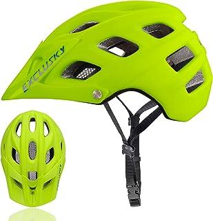 Exclusky Casco de Bicicleta de montaña, Casco Adulto IN-Mold 21 Agujeros con Visera