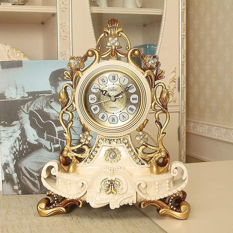 WW Tischuhr Europäischen Stil Uhr Uhr Uhr Kreative Ruhe Uhr Persönlichkeit Sitzen Uhr Wohnzimmer Große Schaukel Uhr Quarzuhr Dekorative Tischuhr B078JNMBYN | Optimaler Preis  80599a