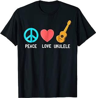 Ukulele shirt - Peace Love Ukelele T Shirt Uke Love Tees