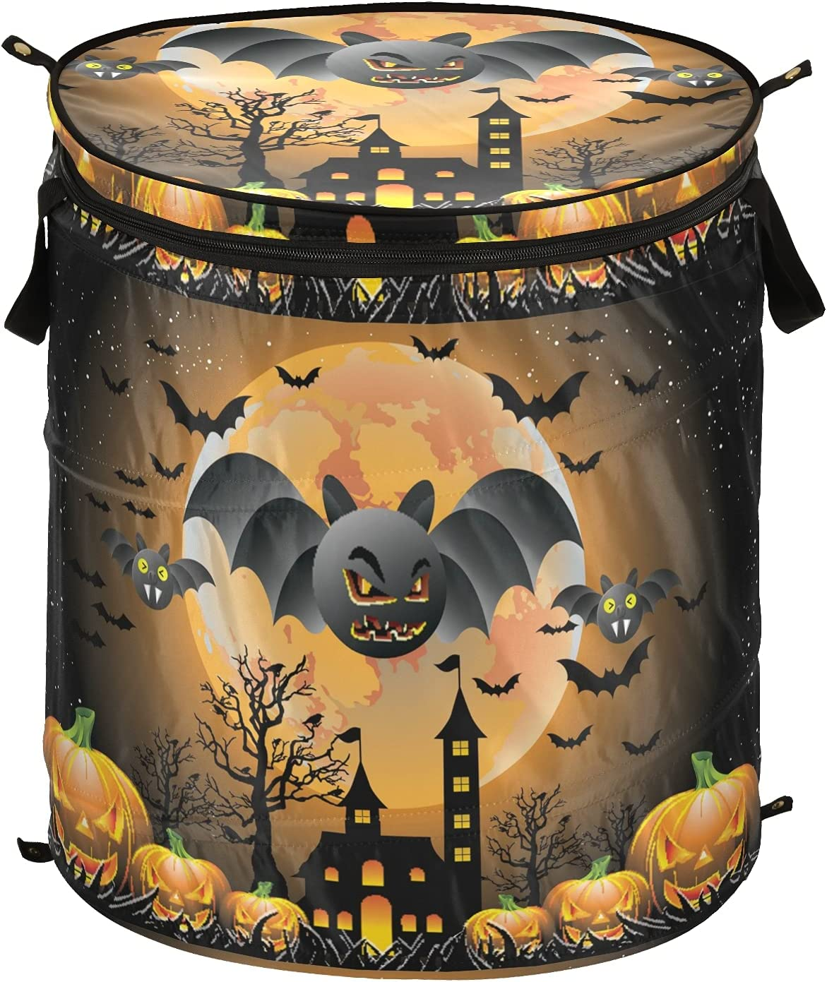 Halloween Pumpkin Haunted House Pop Up F Lid Hamper Max Popular brand 75% OFF Laundry with