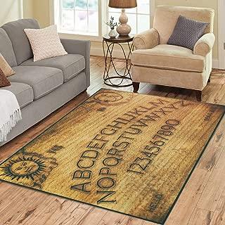 Pinbeam Area Rug Seance Ouija Board Talking Spirit Ghost Old Contact Home Decor Floor Rug 2' x 3' Carpet