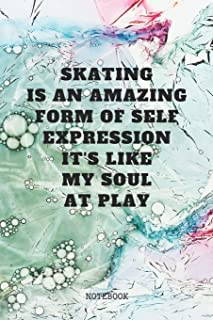 Notebook: Ice Skating and Figure Skating  Coaching Planner / Organizer / Lined Notebook (6