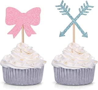 bow and arrow cupcake toppers
