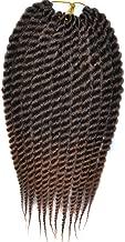3pcs/lot 12inch Havana Mambo Twist Crochet Hair Braids Jumbo Senegalese Twist Crochet Braids Ombre Synthetic Crochet Braiding Hair Extensions (#T30 12inch)