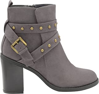 Ladies DOLCIS QUINCY BLACK MEMORY FOAM BUCKLE STRAP LOW HEEL ANKLE BOOTS UK 7