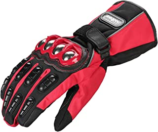 ILM Alloy Steel Motorcycle Riding Gloves Warm Waterproof...