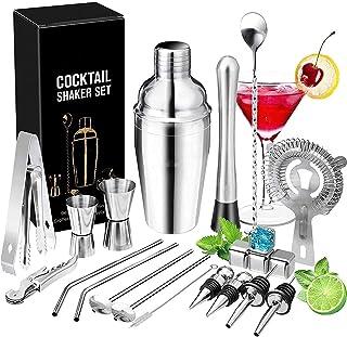 RSBCSHI Cocktail Shaker Set Cocktail Cocktail Ensurgés Barware Ensembles de Barres d'acier Inoxydable 750 ML Kit de Barman...
